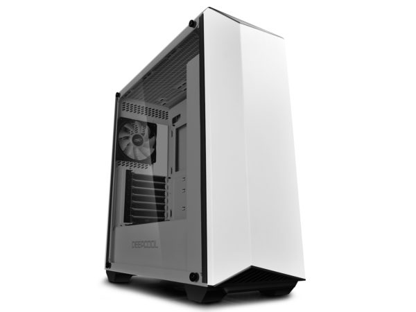 "CARCASA DeepCool Middle-Tower ATX, 2*120mm (incluse), 2* RGB LED headers, RGB Color LED strip, tempered glass, I/O panel iluminat 1x USB 3.0, 1x USB 2.0, white ""EARLKASE RGB WH"""