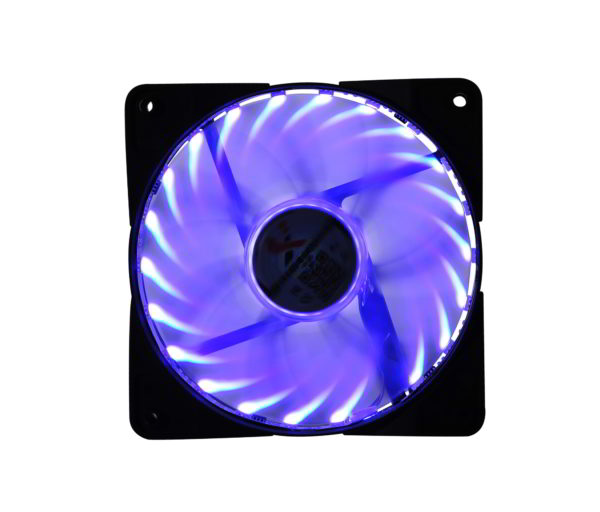 "VENTILATOR Spire X2 PC 120x120x25 mm, X2.120, w. 4 LED blue, alim. PSU, nano bearing ""X2-12025S1V3/4-B-LED"""