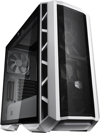 "CARCASA COOLER MASTER Middle-Tower E-ATX, MasterCase. H500P MESH, tempered glass, 2* 200mm RGB fan (incluse), I/O panel, white ""MCM-H500P-WGNN-S00"""