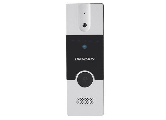 "Post videointerfon exterio Hikvision DS-KB2411-IM;instalarepe4fire;Pinhole Camera with 720*576 @ 25 fps, Video IntercomCommunication,Support Two Door Stations Cascading in Intercom System,UnlockingControlling, ""DS-KB2411-IM"""