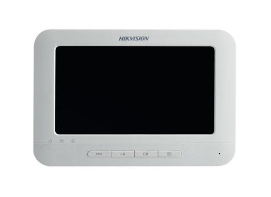 "Monitor videointerfon color Hikvision DS-KH6310-W ,7″Touch-ScreenIndoorStation, 7-Inch Colorful TFT LCD, displayresolution:800 * 480,10/100Mbps Ethernet, Wi-Fi 802.11b/g/n, 8-ch alarminput,Power OverNetwork Cable/ 12 VDC, ""DS-KH6310-W"""