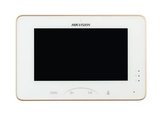 "Monitor videointerfon color Hikvision DS-KH8300-T, 7-InchColorfulTFTLCD ,Capacitive Touch Screen, Touch Key, Display Resolution:1024×600,10/100Mbps Self-Adaptive Ethernet, Alarm Input 8-ch AlarmInputSensor, ""DS-KH8300-T"""