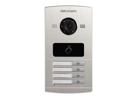 "Post videointerfon color Hikvision DS-KV8102-IM, 1.3 MPVillaDoorStation ,Aluminum ally, Camera resolution: HD720P, 25fps(P),10M/100MSelf-adaptiveEthernet, RS-485, 4-ch alarm input,1-ch alarmoutput,IP65, ""DS-KV8102-IM"""
