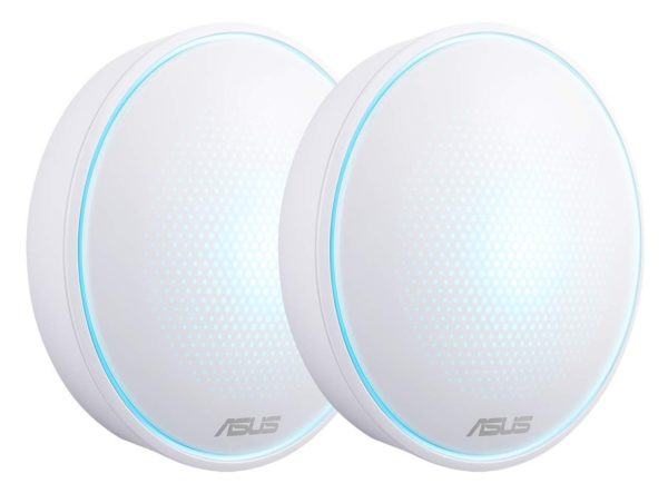 """ASUS AC1300 Dual Band Whole-Home Mesh WiFi System, MAP-AC1300 (2-PK); with AiProtection network security powered by Trend Micro, ASUS Lyra App and Advanced Parental Control; """"MAP-AC1300 (2-PK)"""""""