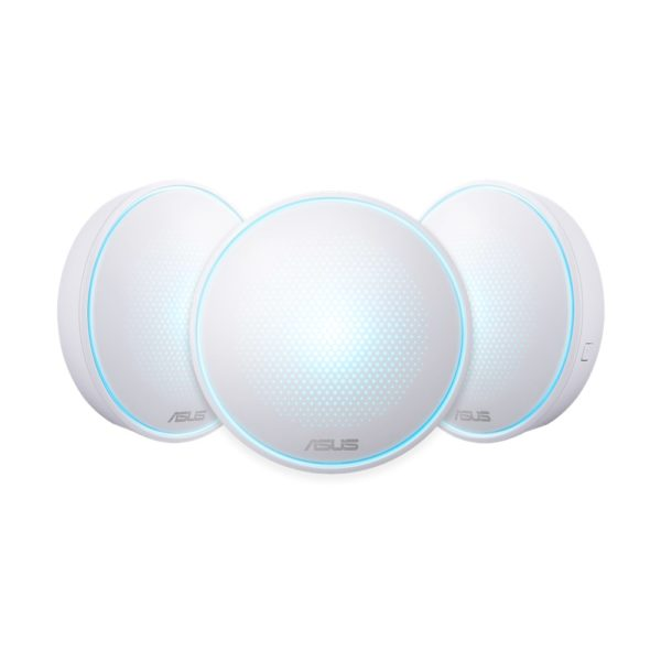 """ASUS Lyra Home WiFi System, Pack of 3 (for large homes), MAP-AC2200 (3- PK); Tri-Band Mesh Networking Wireless AC2200 Routers with AiProtection Powered by Trend Micro, perfect for connected Smart Homes """"MAP-AC2200 (3-PK)"""""""