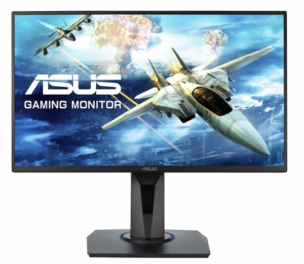 "Monitor 24.5″ ASUS VG255H, FHD 1920*1080, Gaming, TN, 16:9, up to 75Hz, WLED, 1 ms, 250 cd/m2, 170/160, 1000:1, non-glare, speakers, D-sub, HDMI, VESA, pivot, Kensington lock, Free sync, Low blue light, flicker free, black ""VG255H"""