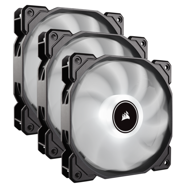 "Cooler carcasa Corsair AF120 LED Low Noise Cooling Fan, 1500 RPM, Triple Pack – White ""CO-9050082-WW"""