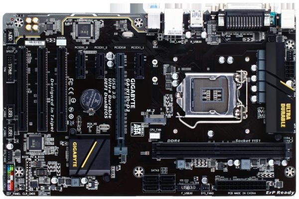 "Placa de baza Gigabyte H110-D3, LGA1151, Intel H110 Express Chipset, 2 x DDR4 DIMM sockets supporting up to 32 GB of system memory, Support for DDR4 2400/2133 MHz, ATX. ""H110-D3"""