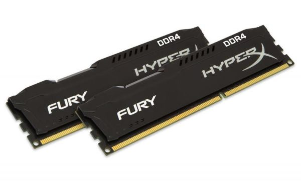 "Memorie RAM Kingston, DIMM, DDR4, 8GB, 2666MHz, CL15, Kit 2*4GB, HyperX FURY Memory Black, 1.2V ""HX426C15FBK2/8"""