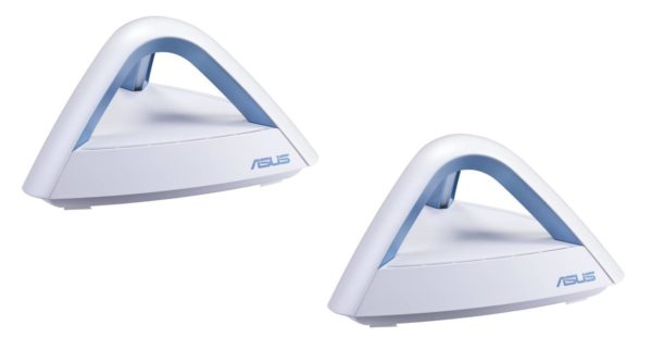 """ASUS Lyra AC1750 Dual Band Mesh WiFi System, MAP-AC1750(2-PK); Covers Multi-Story Homes up to 5400 sq. ft., with AiProtection network security powered by Trend Micro, Parental Controls """"MAP-AC1750(2-PK)"""""""