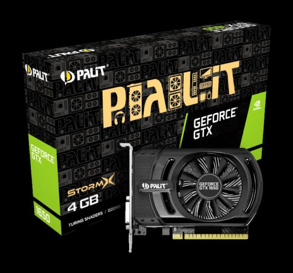 "Placa video Palit GeForce GTX1650 StormX, 4GB GDDR5, Cuda cores 896, Mem. Interface 128bit, Base clock 1485 MHz / Boost clock 1665 MHz, Memory speed 8 Gbps, 1x HDMI, 1x Dual-link DVI-D. ""NE51650006G1-1170F"""