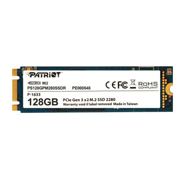 "SSD Patriot, Scorch, 128GB, M.2 2280 PCIe gen 3 x 2 NVMe ""PS128GPM280SSDR"""