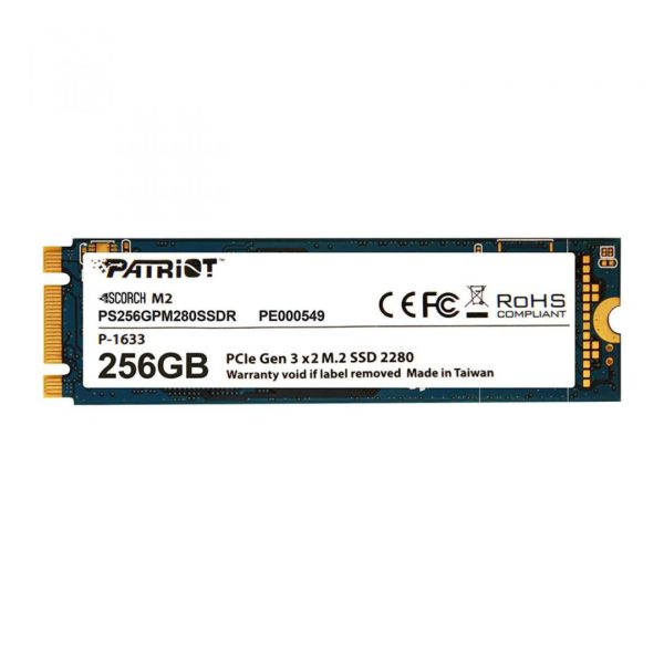 "SSD Patriot, Scorch, 256GB, M.2 2280 PCIe gen 3 x 2 NVMe ""PS256GPM280SSDR"""