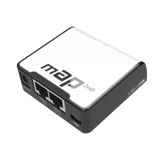 """ACCESS POINT MIKROTIK wireless 300Mbps, 2 x port 10/100Mbps, 2,4GHz Dual-chain, PoE, """"RBMAP2ND"""""""