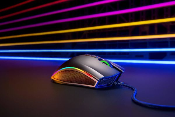 """Mouse Razer Mamba Elite, Razer 5G Advanced Optical Sensor with true 16,000 DPI, Up to 450 inches per second (IPS) / 50 G acceleration, 9 ndependently programmable Hyperesponse buttons, """"RZ01-02560100-R3M1"""""""