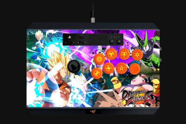 """Gaming Controller Razer Dragon Ball FighterZ Panthera Arcade Stick for PS4, 10 tournament-grade Sanwa buttons, Authentic Sanwa joystick with ball top, """"RZ06-01690400-R3G1"""""""