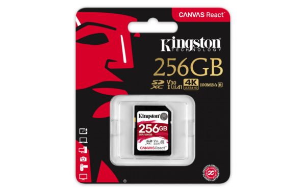 "SD CARD Kingston 256 GB, SDXC, clasa 10, standard UHS-I U3, suporta rezolutie 4K, ""SDR/256GB"""