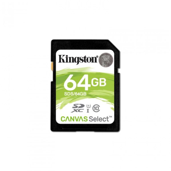 "SD CARD Kingston 64 GB, SDXC, clasa 10, standard UHS-I U1, ""SDS/64GB"""