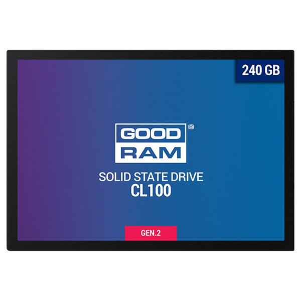"SSD Goodram, CL100, 240GB, 2.5″, SATA III (6 GB/s), R/W speed: up to 520MB/s/400MB/s ""SSDPR-CL100-240-G2"""