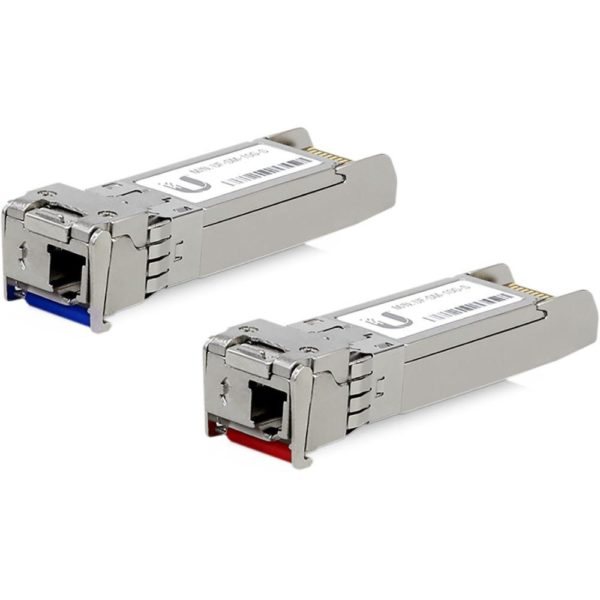 "Ubiquiti U Fiber Single-Mode Module, UF-SM-10G-S; 10G, BiDi, 2-Pack; Data Rate: 10Gbps SFP+; Cable Distance: 10km; ""UF-SM-10G-S"""
