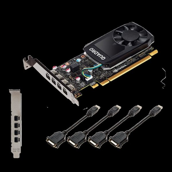 "Placa video PNY NVIDIA Quadro P1000 DVI, CUDA Cores: 640, 4GB GDDR5, 128-bit, PCI Express 3.0 x16, 4 xxxx mDP1.4, 1x DisplayPort, single fan ""VCQP1000DVI-PB"""