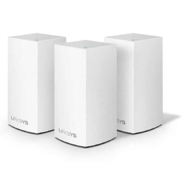 "Linksys Velop Intelligent Mesh WiFi System, WHW0103; 3-Pack White (AC3900); Wi-Fi Technology: Dual-Band AC1300 (867 + 400 Mbps)# with MU- MIMO and 256 QAM; Network Standards: 802.11a/ 802.11g/ 802.11n/ 802.11ac/ 802.11b; ""WHW0103"""