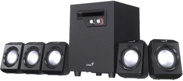"BOXE GENIUS 5.1, RMS: 26W (5 x 2.3W + 1 x 14.5W), black, ""SW-5.1 1020 II"" ""31730014400"" (include TV 3 lei)"