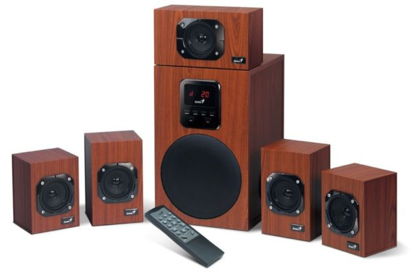 "BOXE GENIUS 5.1, RMS: 125W (5 x 16W + 1 x 45W), telecomanda wireless, wood, ""SW-HF5.1 4800 II"" ""31730017400"" (include TV 8 lei)"
