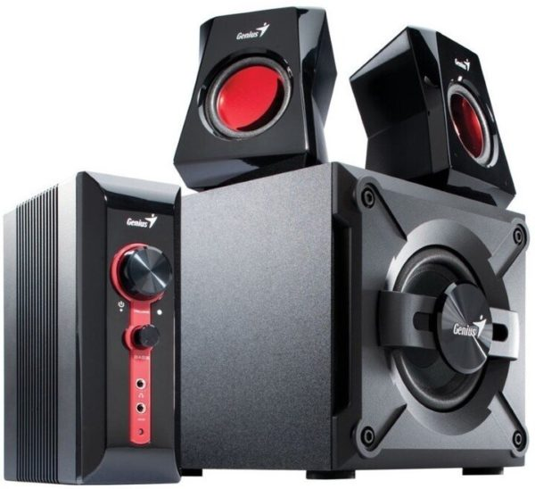 "BOXE GENIUS 2.1, RMS: 38W (2 x 9W + 1 x 20W), gaming, black & red, ""SW-G2.1 1250 II"" ""31730019400"""