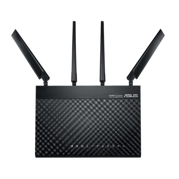 "Router Asus AC1900 Dual-Band LTE Wi-Fi, 4G-AC68U; IEEE 802.11a, IEEE 802.11b, IEEE 802.11g, IEEE 802.11n, IEEE 802.11ac, IPv4, IPv6; AC1900 ultimate AC performance: 600+1300 Mbps; 2* External antenna, 1* Internal antenna; 2* Detachable""4G-AC68U"""