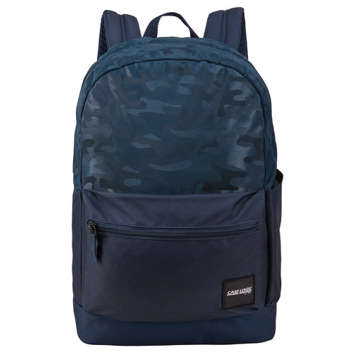 "RUCSAC scolar CASE LOGIC, fara compartiment laptop, 1 compartiment, buzunar frontal, buzunar lateral, waterproof, volum 26 litri, poliester, model camuflaj/ albastru, ""Founder"", ""CCAM-2126 DRESS BLUE/CAMO"" / 3203861"