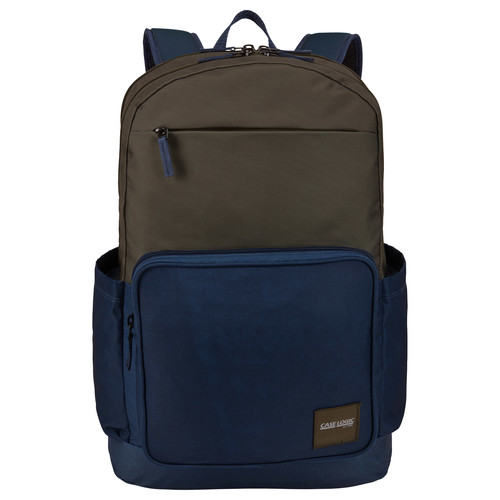 "RUCSAC CASE LOGIC, pt. notebook de max. 15.6″, 2 compartimente, buzunar frontal x 2, buzunar lateral x 2, waterproof, volum 29 litri, poliester, albastru/ maro, ""Query"", ""CCAM-4116 OLIVE NIGHT/DRS BLU"" / 3203871"