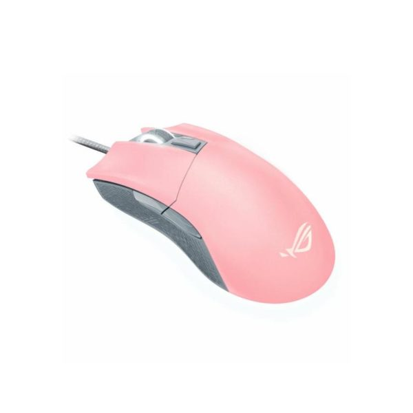 "Gaming mouse Asus P504 ROG GLADIUS II ORIGIN PNK, 90MP00U3-B0UA00; recision movement and aiming delivered by battle-tested 12,000 DPI Optical; Omron switches rated for 50-million-clicks""90MP00U3-B0UA00″"