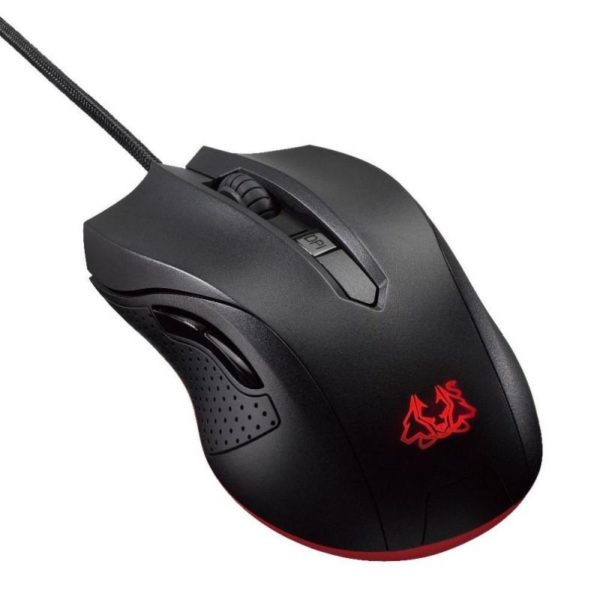 "MOUSE ASUS gaming, cu fir, USB, optic, 2500 dpi, butoane/scroll 6/1, negru, iluminare, ""90YH00Q1-BAUA00"""