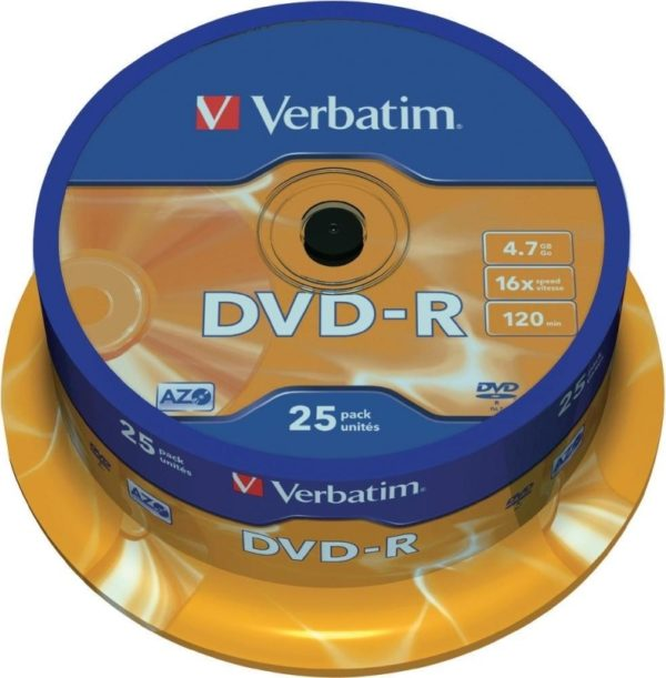 "DVD-R VERBATIM 4.7GB, 120min, viteza 16x, 25 buc, Single Layer, spindle, ""Matt Silver"" ""43522"""