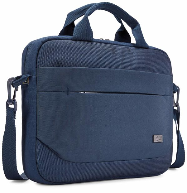 "GEANTA CASE LOGIC, pt. notebook de max. 11.6 inch, 1 compartiment, buzunar frontal x 2, waterproof, poliester, albastru, ""ADVA-111 DARK BLUE"""