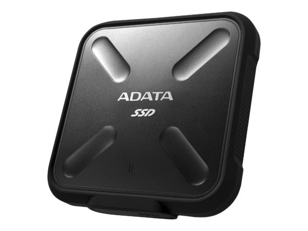 "SSD Extern ADATA SD700, 2.5″, 1TB, USB 3.1, R/W speed: up to 440 MB/s, Dust/Water proof, Military-grade shockproof, Portable-slim and sporty design, Negru ""ASD700-1TU31-CBK"""