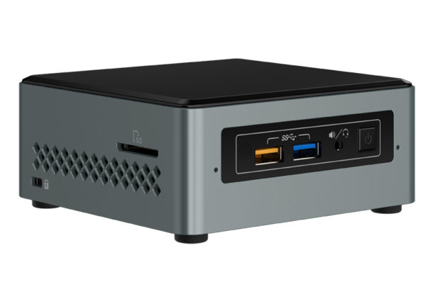 "Intel NUC Mini PC ""Arches Canyon "" (Intel Celeron Processor J3455 (2M Cache, up to 2.3 GHz); 2GB DDR3L SO-DIMM pre-installed; 32GB eMMC on-board; Microsoft Windows 10 pre-installed. Includes SDXC card slot ""BOXNUC6CAYSAJ"""