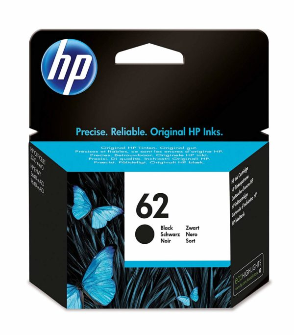 "Cartus Cerneala Original HP Black, nr.62, pentru ENVY 5640|ENVY 200, , incl.TV 0.11RON, ""C2P04AE"""