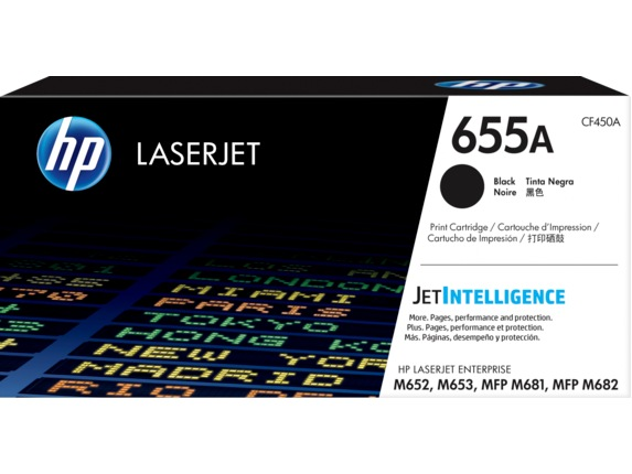 "Toner Original HP Black, nr.655A, pentru Color LaserJet M652|M653|M681|M682, 12.5K, incl.TV 0.8 RON, ""CF450A"""