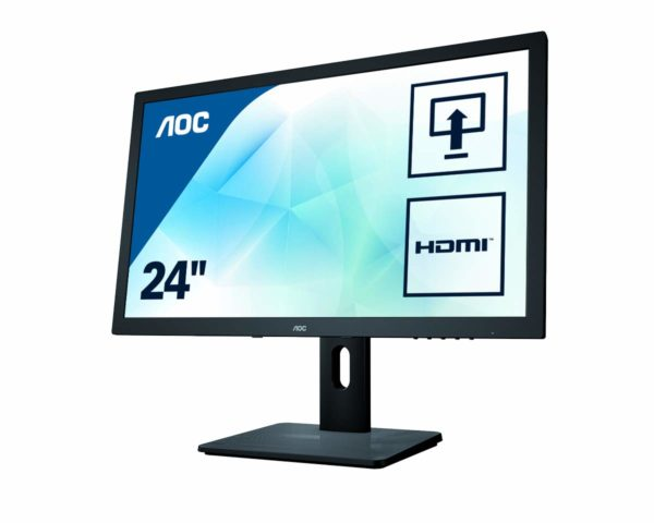 "MONITOR AOC 24″ gaming, TN, Full HD (1920 x 1080), Wide, 250 cd/mp, 2 ms, VGA, DVI, HDMI, ""E2475PWJ"" (include TV 5 lei)"
