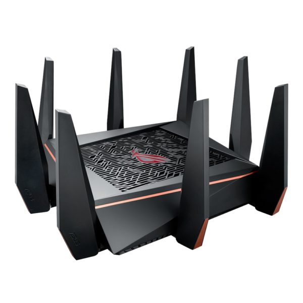 "Asus Tri-band Gaming Router GT-AC5300, 1000+2167+2167 Mbps, IEEE 802.11a, IEEE 802.11b, IEEE 802.11g, IEEE 802.11n, IEEE 802.11ac, IPv4, IPv6, 2.4G Hz, 5 GHz-1, 5 GHz-2, 256 MB Flash, 1024 MB RAM, ""GT-AC5300"""