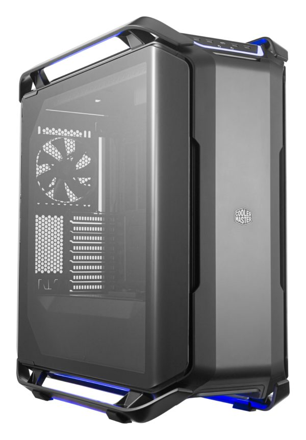 "CARCASA COOLER MASTER. Full-Tower E-ATX, Cosmos C700P, tempered glass, 3* 140mm fan (inclus), I/O panel, RGB controller & RGB LED strips, black ""MCC-C700P-KG5N-S00"""