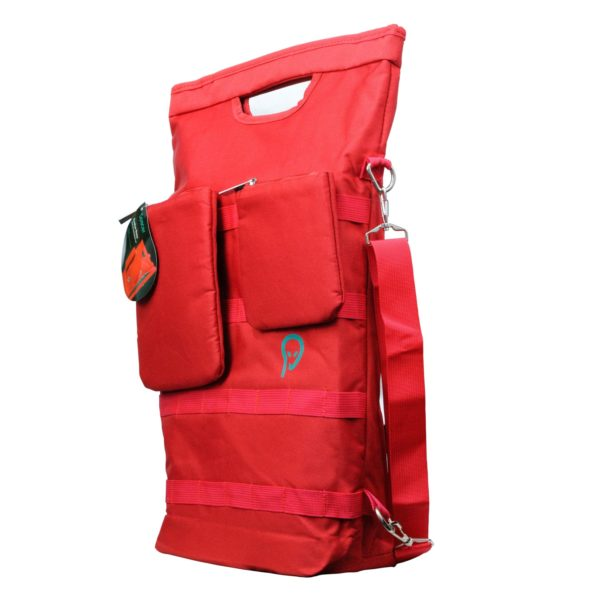 "2 in 1 GEANTA & RUCSAC SPACER notebook 15″, poliester, 2 compartimente, 2 buzunare frontale detasabile, red, ""SPB-EVOLVE-RED"""