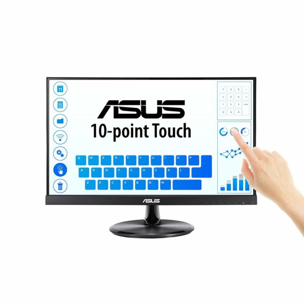 """MONITOR ASUS 21.5″, home, office, touchscreen, IPS, Full HD (1920 x 1080), Wide, 250 cd/mp, 5 ms, VGA, HDMI, """"VT229H"""" (include TV 5 lei)"""