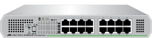 "SWITCH ALLIED TELESIS, GS910/16, porturi Gigabit x 16, unmanaged, carcasa metalica, ""AT-GS910/16-50"""