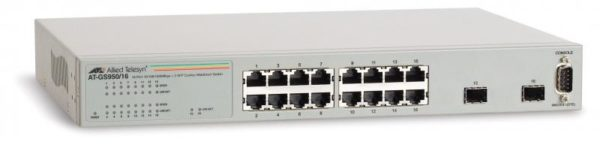 "SWITCH ALLIED TELESIS, GS950/16, 10/100 x 16, SFP x 2, managed, rackabil Layer 2 , carcasa metalica, ""AT-GS950/16-50"""