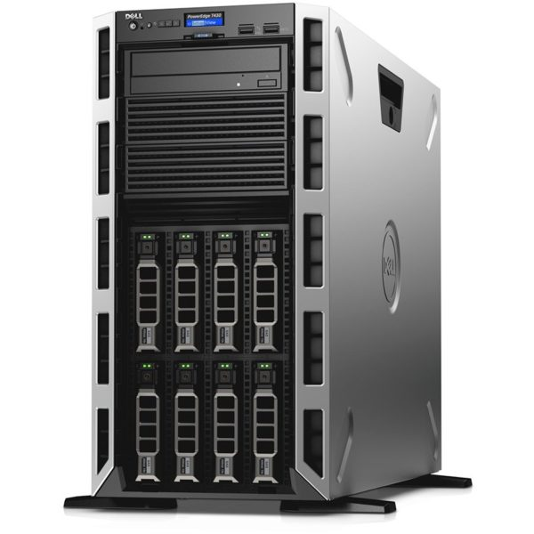 "Server Dell PowerEdge T430, Intel Xeon E5-2620v4 8C/16T 2.1GHz, 16GB(1x16GB) 2666 RDIMM, DVD+/-RW, 1x120GB SSD(max. 8 x 3.5"" hot-plug HDD), PERC H730, iDRAC8 Basic, Single Hot-plug PS(1+0) 750W, Power Cord, 3Yr NBD ""PET430C1-05"""