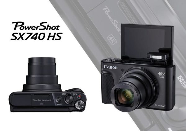 "Camera foto Canon PowerShot SX740HS BK, 20.3 MP, senzor CMOS tip 1/2,3, cu iluminare din spate, 40x Zoom optic, 40x Zoom digital, 3″ LCD rabatabil, processor imagine DIGIC 8, focalizare TTL,WiFi, GPS, Bluetooth, negru ""2955C002AA"""