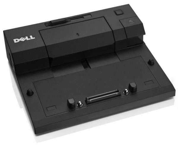 "Port Replicator Dell Simple II cu Alimentator 130W, Conectivitate: 1xVGA, 1xDisplay Ports1.2, 1xDVI-D, 5xUSB 2.0 (2xUSB 3.0), RJ-45, Audio and Mic, Lock Slot, E-Monitor Stand Connector, Compatibil cu Latitude E series ""452-11422"""